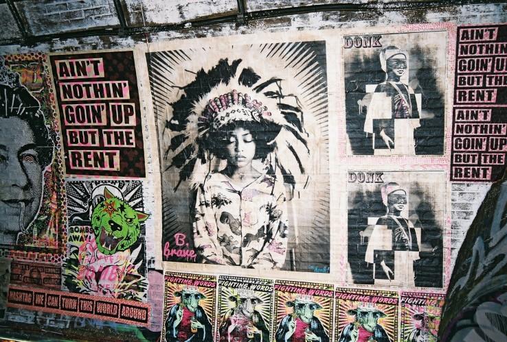 Brave, Street Art | London, UK | Nikon F55 | day in the city © 2016