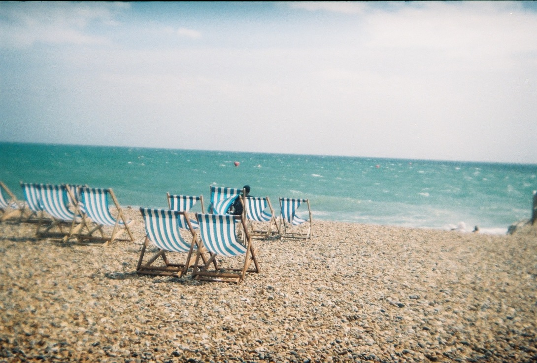 Deck Chairs   Brighton   Nikon F55   day in the city © 2016